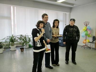 день рождение кдуба Общение, молодые инвалиды, район Северное Медведково